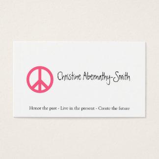 Rosa Friedenssymbol-Visitenkarte Visitenkarte