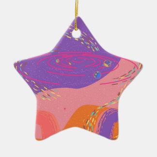 Rosa Galaxie Keramik Ornament