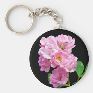 Rosa Garten-Rosen und Käfer Schlüsselanhänger