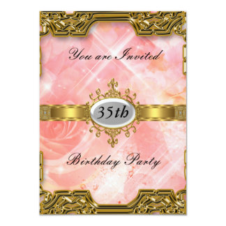 Rosa Geburtstags-Party-Glamour-heiße Einladung