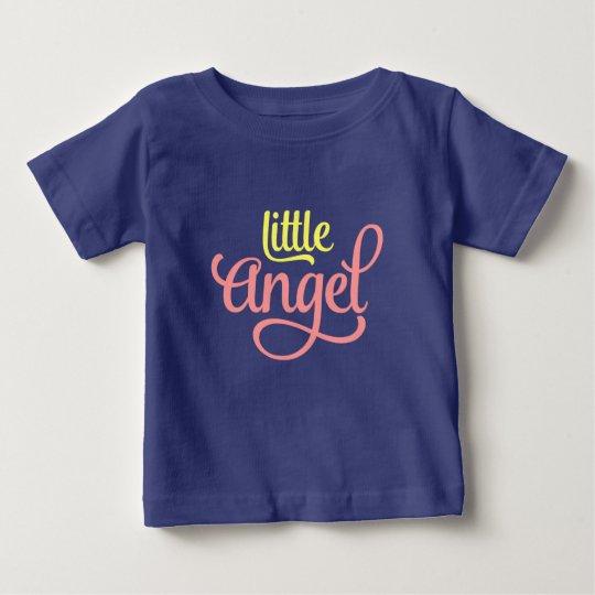 Rosa gelber Engelchen-Baby-Jersey-T-Shirt Entwurf Baby T-shirt