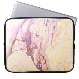 Rosa gelber und lila Marmorstein Laptop Sleeve