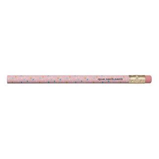 Rosa gemusterte 2 Linien des Spaßes Bleistift 1