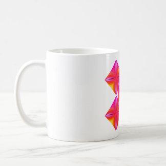 Rosa geo kaffeetasse
