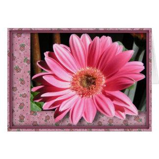 Rosa Gerber Gänseblümchen-Geburtstags-Karte Grußkarte