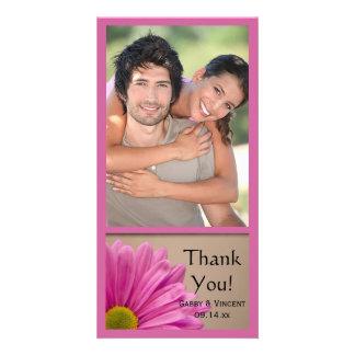 Rosa Gerber Gänseblümchen-Hochzeit danken Ihnen Karte