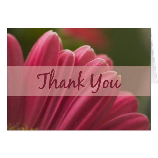 Rosa Gerbera-Gänseblümchen danken Ihnen Karten