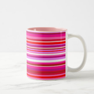 Rosa gestreifte Tasse