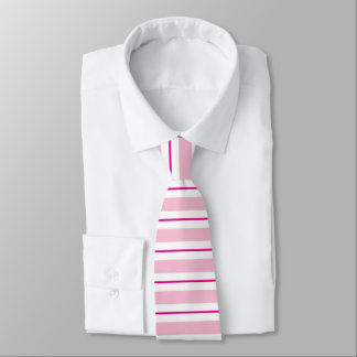 Rosa gestreifte Valentines-Krawatte Krawatte