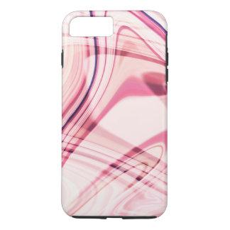 Rosa gewellte Linien iPhone 7 Plusfall iPhone 8 Plus/7 Plus Hülle