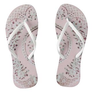 Rosa Gibson-Mädchen Flip Flops