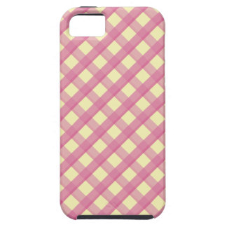 Rosa Gingham-Vintages Muster iPhone 5 Cover