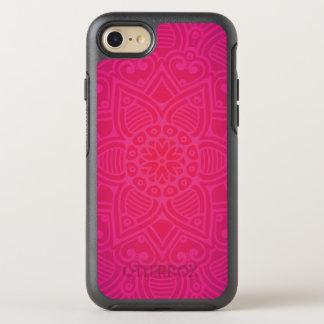 Rosa Girly Boho Blumen-Entwurf OtterBox Symmetry iPhone 7 Hülle