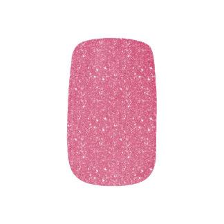 Rosa Glitterminx-Nägel Minx Nagelkunst