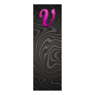 Rosa Glittery Initiale - V Visitenkarte