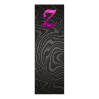 Rosa Glittery Initiale - Z Visitenkartenvorlage