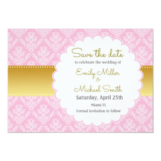 Rosa Gold, das Save the Date Karte Wedding ist