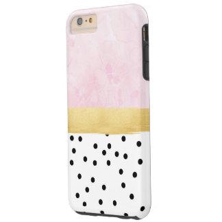 Rosa, Gold, Tupfen - iPhone Fall Tough iPhone 6 Plus Hülle