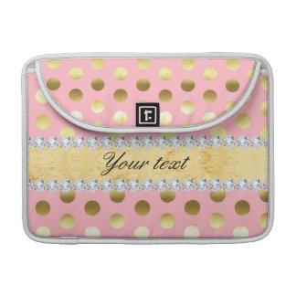Rosa Goldfolien-Tupfen-Diamanten Sleeve Für MacBook Pro