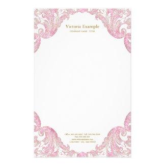 Rosa GoldGlitter-Strudel-elegantes rosa Gold Briefpapier