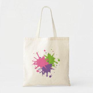 Rosa, grüne und lila Farben-Tasche Tragetasche