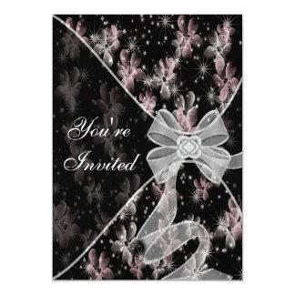 Rosa Hartriegel-Anlass-Einladungs-Schablone Karte