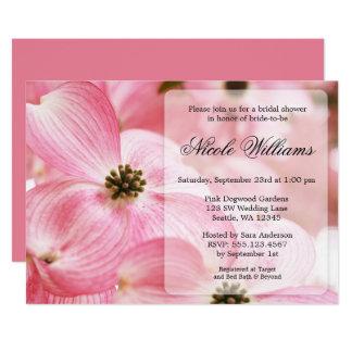 Rosa Hartriegel blüht Brautparty Karte