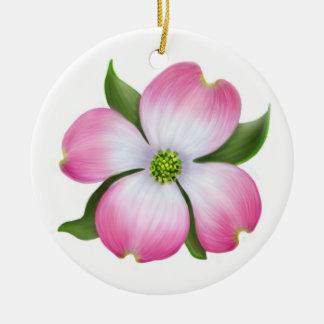 Rosa Hartriegel-Blumenverzierung Keramik Ornament
