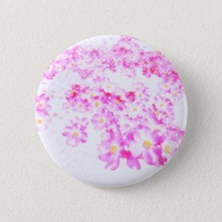 Rosa Hartriegel-Blüte Runder Button 5,1 Cm
