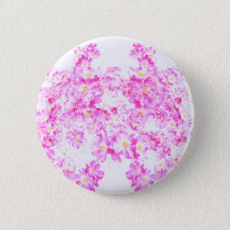 Rosa Hartriegel-Blüte Runder Button 5,7 Cm