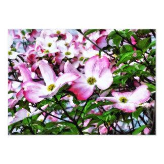 Rosa Hartriegel-Blüten Karte