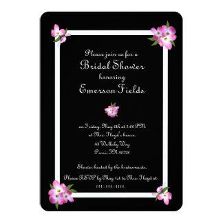 Rosa Hartriegel-Brautparty-Einladung Karte
