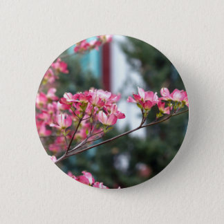 Rosa Hartriegel Runder Button 5,7 Cm
