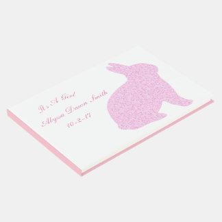Rosa Häschen ist es ein Mädchen-BabypartyGuestbook Gästebuch