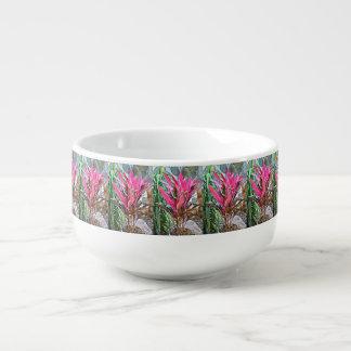 Rosa Haus-Pflanzen-Suppen-Tasse Große Suppentasse