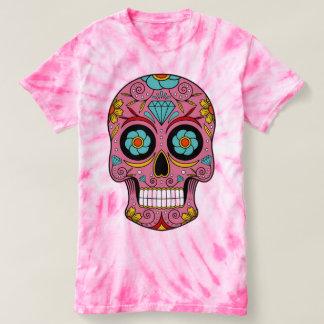 rosa Hemd mexikanischer weicher makabrer Totenkopf T-shirt