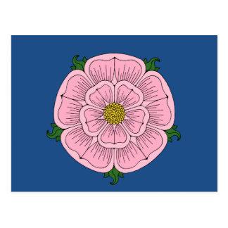 Rosa heraldische Rose Postkarte
