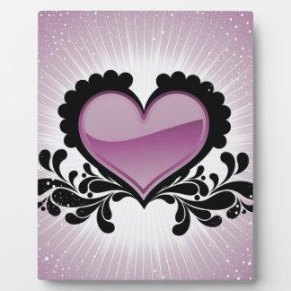 Rosa Herz für Valentinsgruß Day.jpg Fotoplatten
