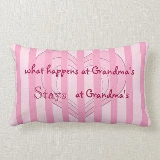 Rosa Herz-Großmutter-Wurfs-Kissen Lendenkissen