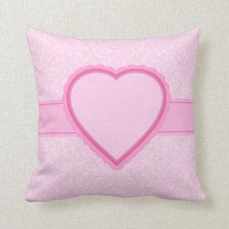 rosa Herz Kissen