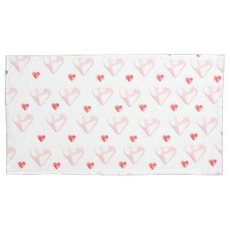 Rosa Herz-Korbwiegen-Kissen-Hüllen Kissen Bezug