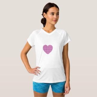 rosa Herz-laufender Verein SheRuns.com T-Shirt