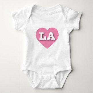Rosa Herz Louisianas oder Los Angeles - große Baby Strampler