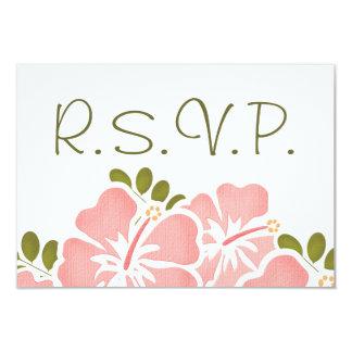 ROSA HIBISKUS-UAWG, DAS WARTEkarten WEDDING IST 8,9 X 12,7 Cm Einladungskarte