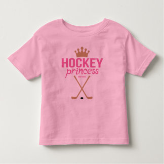 Rosa Hockey-Prinzessin Toddler Kleinkinder T-shirt