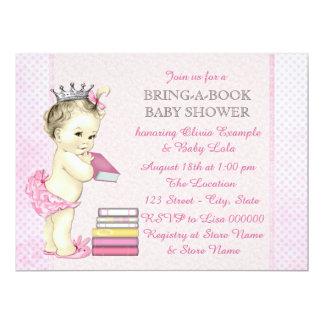 Rosa holen eine Buch-Babyparty 16,5 X 22,2 Cm Einladungskarte