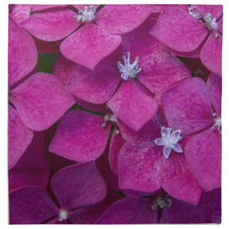Rosa Hydrangea-Blumen Stoffserviette