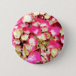 Rosa Hydrangea-Blumenstrauß Runder Button 5,1 Cm