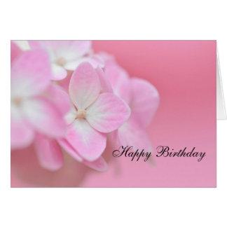 Rosa Hydrangea-Geburtstags-Karte Karte