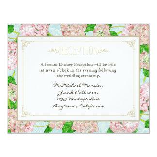 Rosa Hydrangea-Spitze-formale elegante mit 10,8 X 14 Cm Einladungskarte